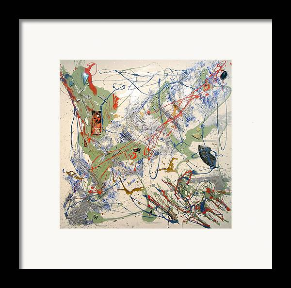Abstract Framed Print featuring the painting Lustitia by Irma Hinghofer-Szalkay