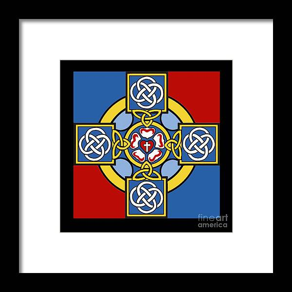 Cross Framed Print featuring the photograph Lutheran Cross by Jost Houk