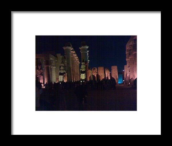 Egypt Framed Print featuring the photograph Luxor City In Egypt by Samar Abdelmonem