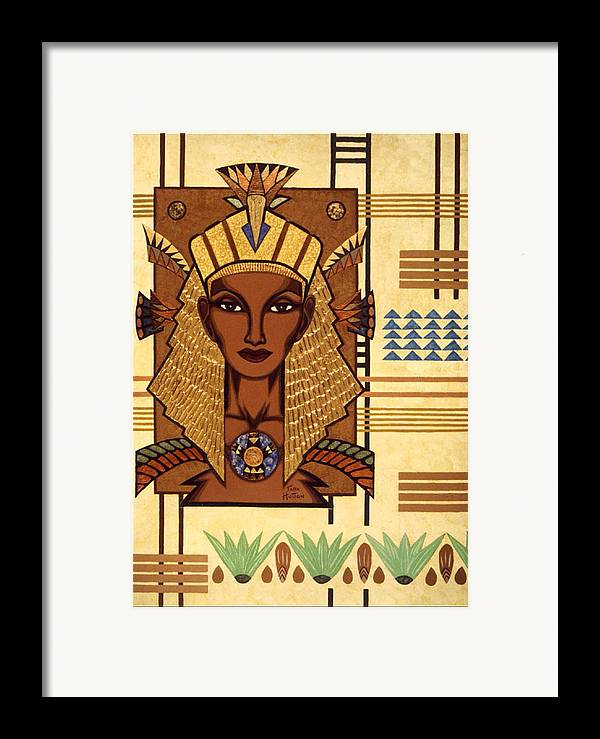 Egyptian Framed Print featuring the painting Luxor Deluxe by Tara Hutton
