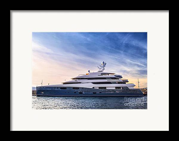 Yacht Framed Print featuring the photograph Luxury Yacht by Elena Elisseeva