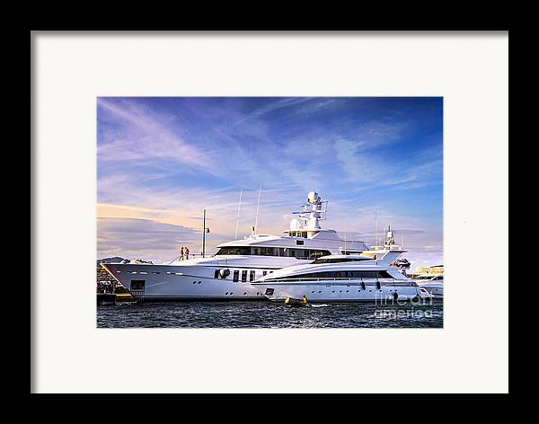 Yacht Framed Print featuring the photograph Luxury Yachts by Elena Elisseeva