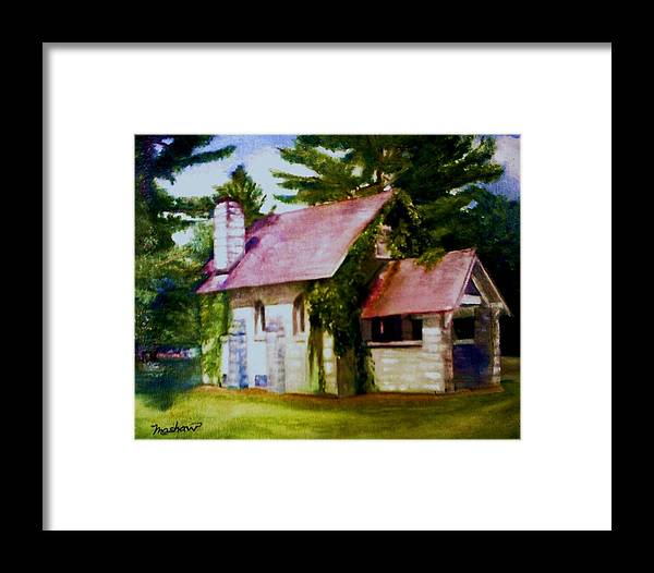 Church Framed Print featuring the painting Lyons Falls Church by Sheila Mashaw