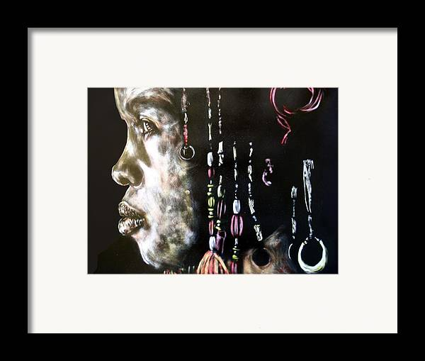 Portrait Framed Print featuring the mixed media Lyric by Chester Elmore