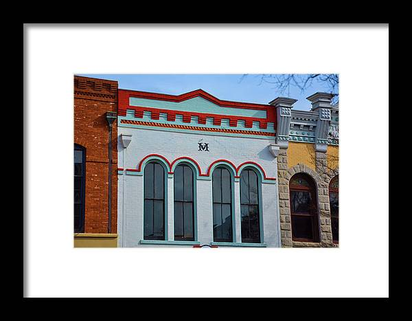 Architectural Framed Print featuring the photograph M Building by Jan Amiss Photography