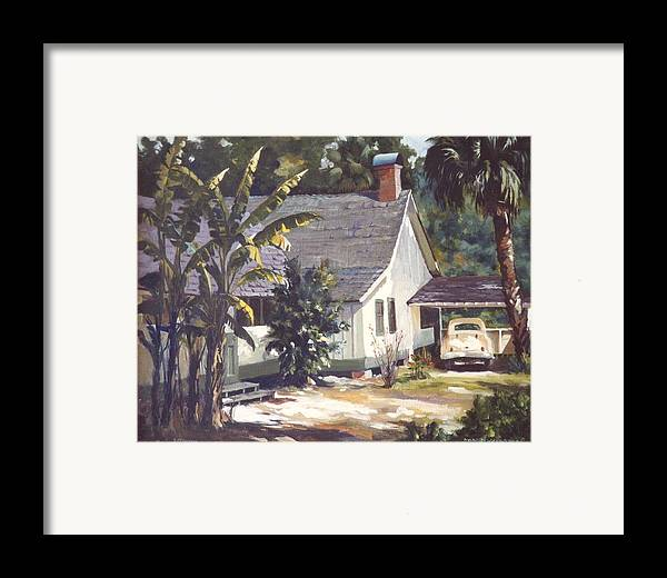House Framed Print featuring the painting M. K. Rawlings House by Marion Hylton