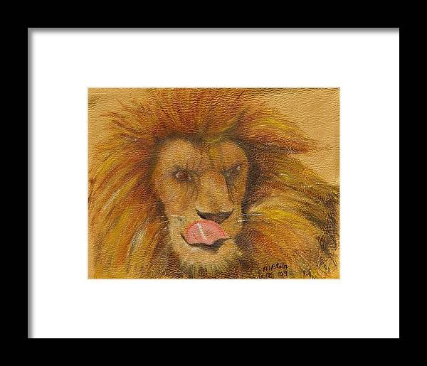Wildlife Framed Print featuring the painting m-m-m- Good by Merle Blair