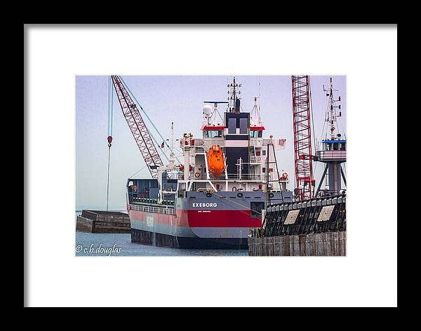 2016 Framed Print featuring the photograph M/v Exeborg by Christine Douglas