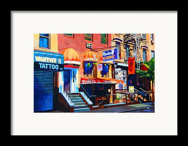 Macdougal Street Framed Print featuring the painting Macdougal Street by John Tartaglione
