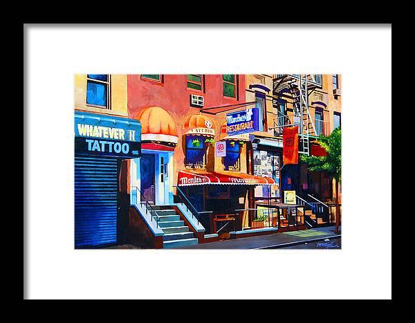 Macdougal Street Framed Print featuring the painting Macdougal Street by John Tartaglione
