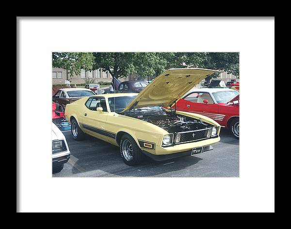Mustang Framed Print featuring the photograph Mach 1 by Rob Luzier