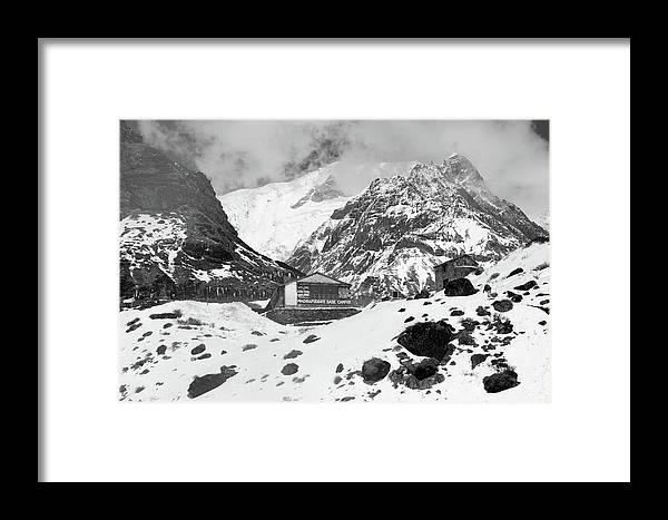 Nepal Framed Print featuring the photograph Machhapuchchhre Base Camp - The Himalayas by Aidan Moran