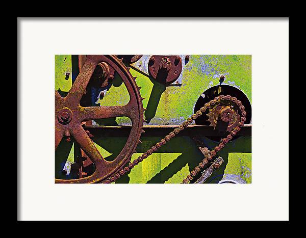 Machinery Framed Print featuring the photograph Machinery Gears by Garry Gay