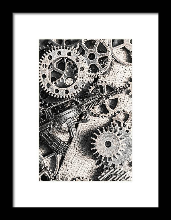 War Framed Print featuring the photograph Machines Of Military Precision by Jorgo Photography - Wall Art Gallery