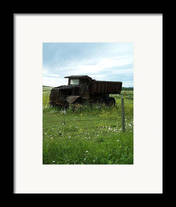 Mack Truck Framed Print featuring the photograph Mack Truck by Gene Ritchhart