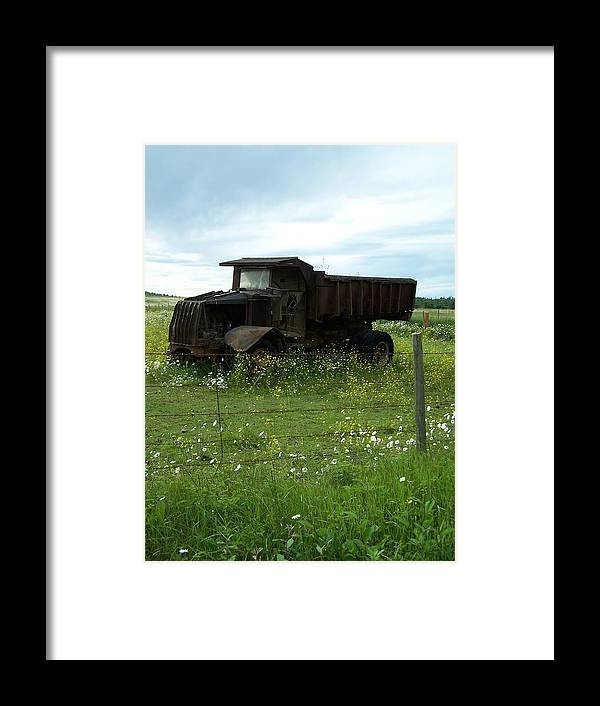 Mack Truck Framed Print featuring the photograph Mack Truck by Gene Ritchhart