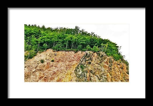 Cabot Trail Framed Print featuring the photograph Mackenzie Mountain by Olga Zavgorodnya