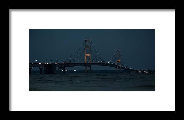 Bridge Framed Print featuring the photograph Mackinac Bridge - 1 by Tom Clark