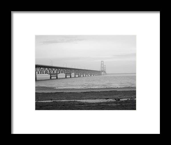 Michigan Framed Print featuring the photograph Mackinaw Bridge by Scott Hovind