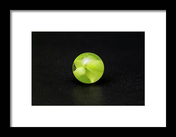 Marble Framed Print featuring the photograph Macro Marble by David Stasiak