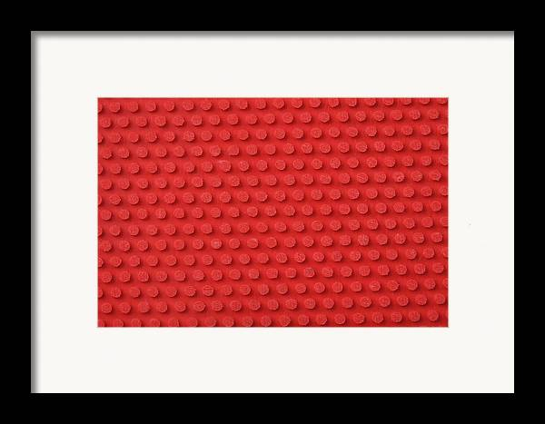 Horizontal Framed Print featuring the photograph Macro Ping Pong Paddle Texture by Nic Taylor