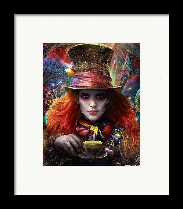 Hatter Framed Print featuring the digital art Mad As A Hatter by Omri Koresh