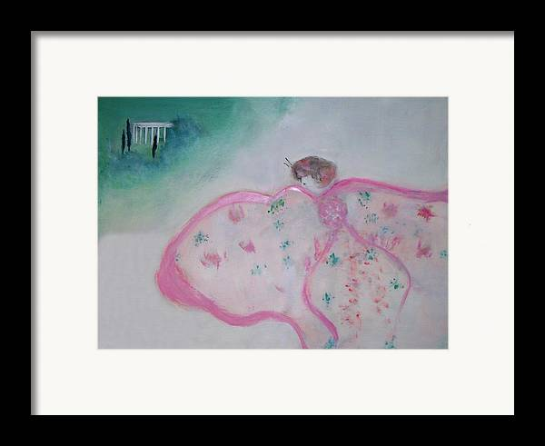 Fantasy Framed Print featuring the painting Madame Butterfly - Flight To Eterna by Michela Akers