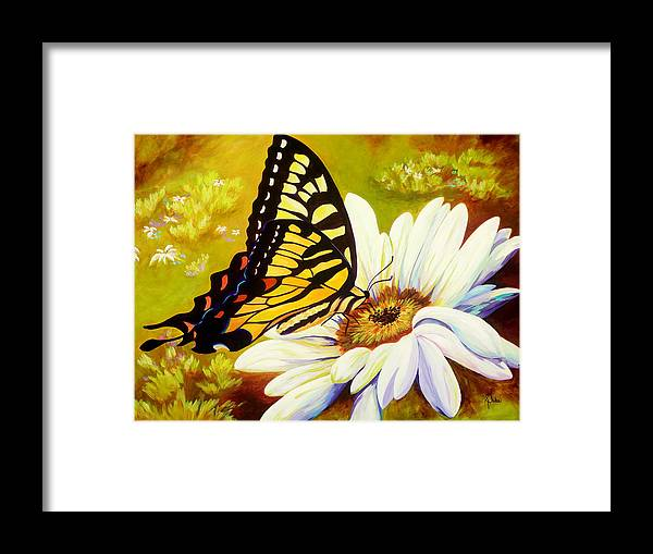 Butterfly Framed Print featuring the painting Madame Butterfly by Karen Dukes