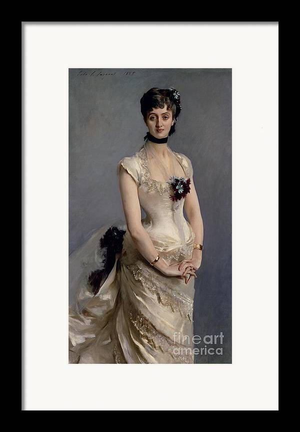 Madame Framed Print featuring the painting Madame Paul Poirson by John Singer Sargent