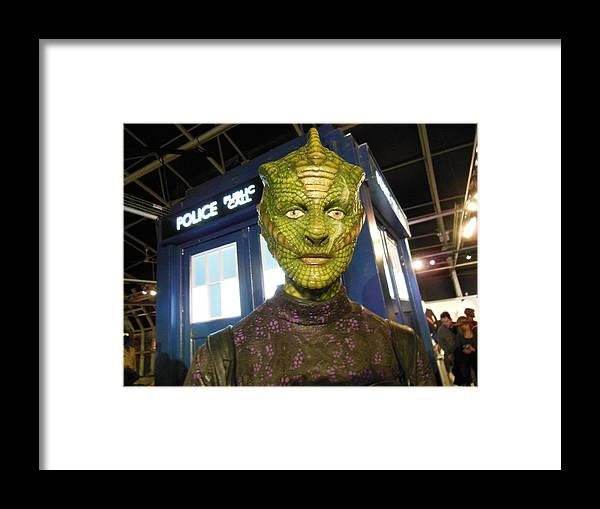 Madame Vastra Framed Print featuring the photograph Madame Vastra by Patricia Russell