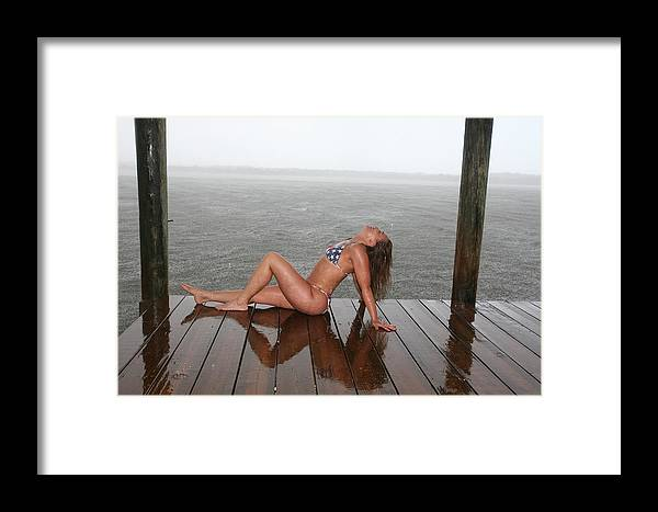 Beach Girl By Lucky Cole Everglades Photography Framed Print featuring the photograph Made In The Usa by Lucky Cole