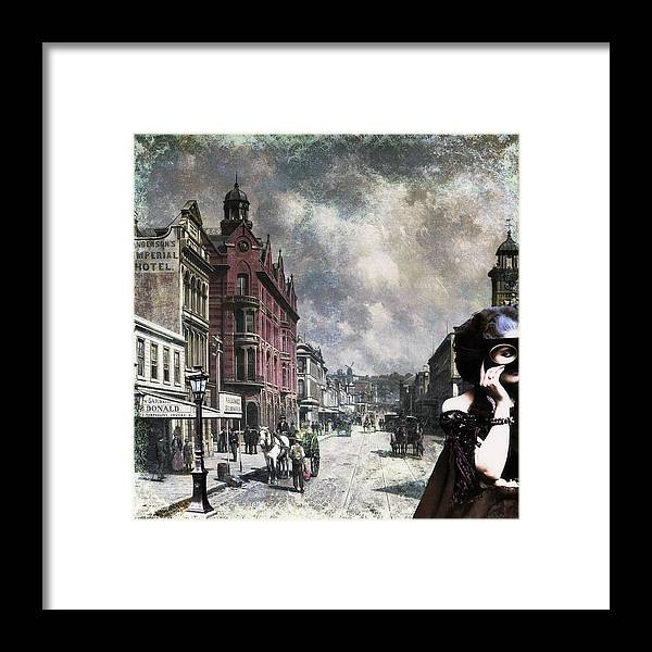 Old Cities Framed Print featuring the digital art Madeline's Secret by Laura Botsford