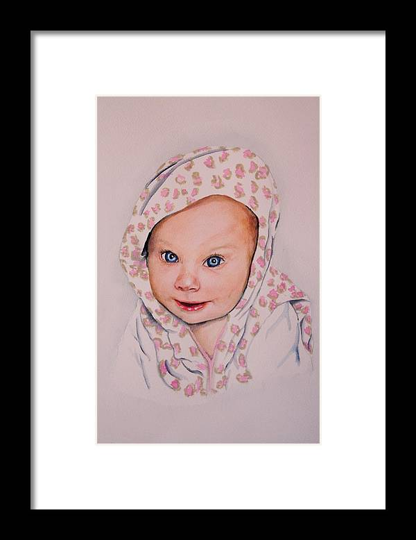 Portrait Framed Print featuring the painting Madi by Diane Ziemski
