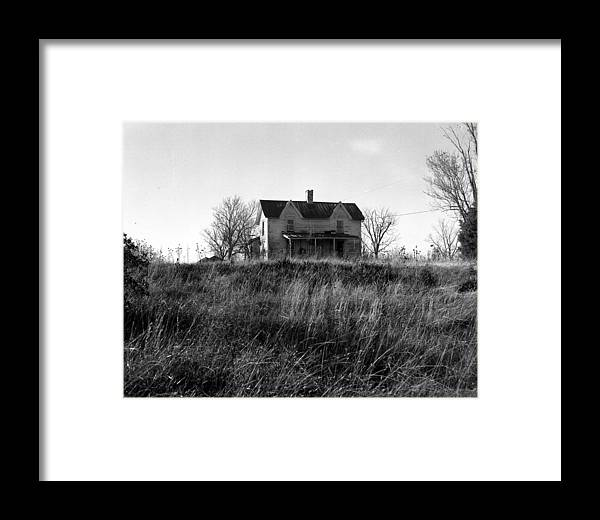 Landscape Framed Print featuring the photograph Madison County Farm House by George Ferrell
