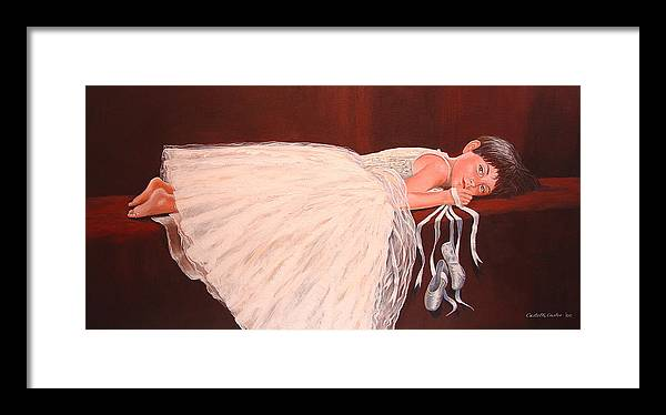 Portrait Framed Print featuring the painting Madison by JoAnne Castelli-Castor