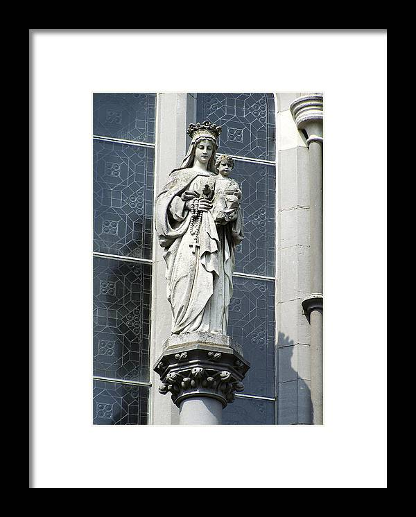 Ireland Framed Print featuring the photograph Madonna and Child by Teresa Mucha