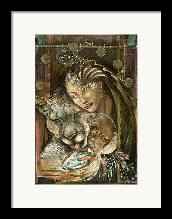 Wildlife Framed Print featuring the painting Madonna by Blaze Warrender