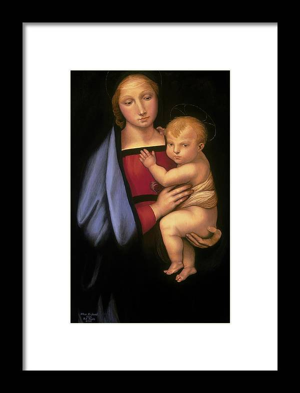 Madonna Framed Print featuring the painting Madonna Del Granduca by Rebecca Poole