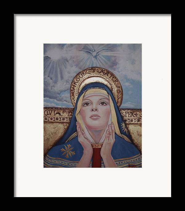 Portrait Framed Print featuring the painting Madonna by Diann Baggett