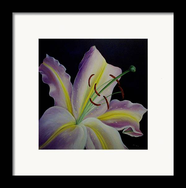 Flowers Framed Print featuring the painting Madonna by Elsa Gallegos