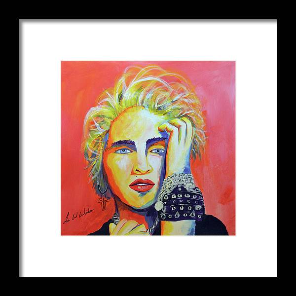 Madonna Framed Print featuring the painting Madonna by Lee Wolf Winter