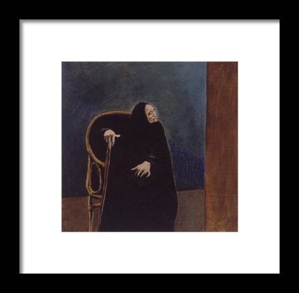 Aged Lady Framed Print featuring the painting Madre Celestina by James LeGros