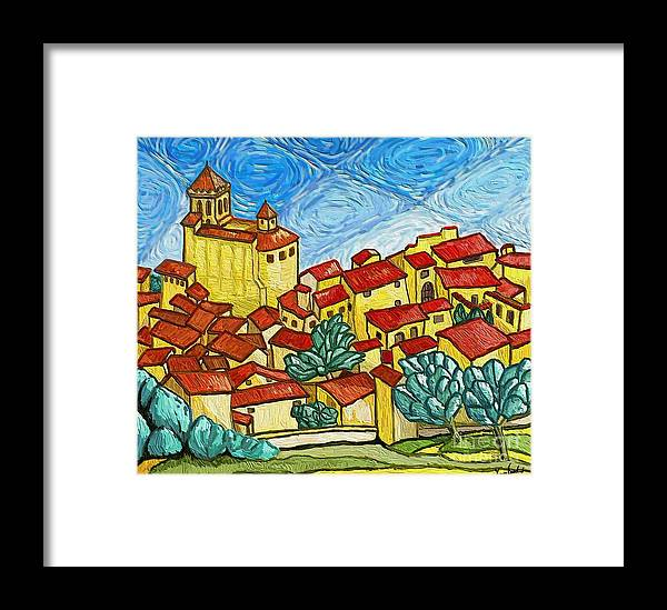 Figurative Framed Print featuring the painting Madremanya by Xavier Ferrer