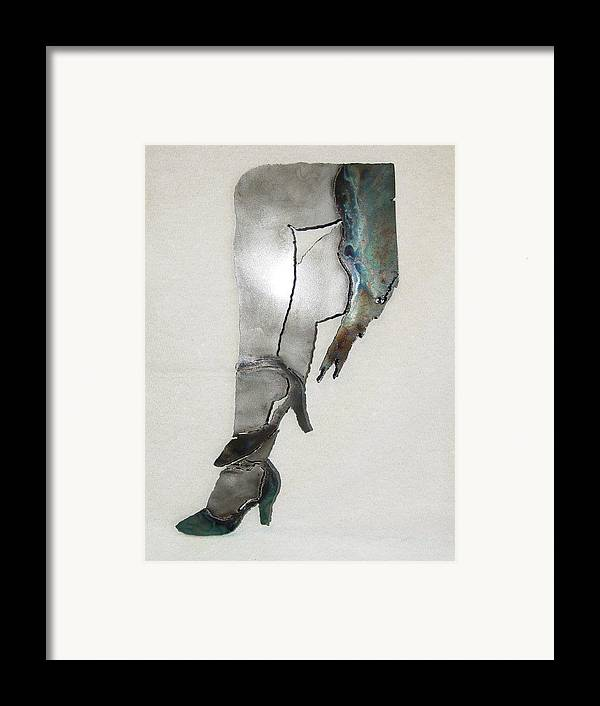 Dancer Framed Print featuring the sculpture Mae Sold by Steve Mudge