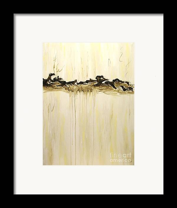 Abstract Framed Print featuring the painting Maelstrom Original Contemporary Modern Abstract Painting by Itaya Lightbourne