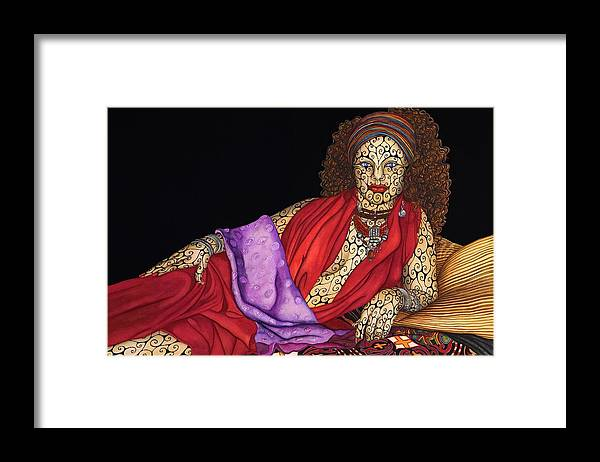 Surrealism Framed Print featuring the painting Magdalena by Tina Blondell