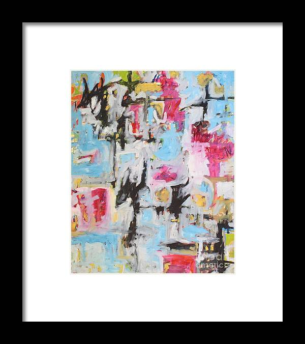 Painting Framed Print featuring the painting Magenta Abstract I by Michael Henderson