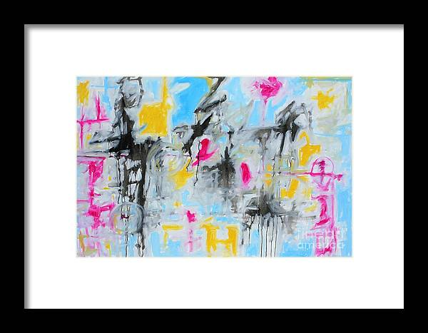 Painting Framed Print featuring the painting Magenta Abstract II by Michael Henderson