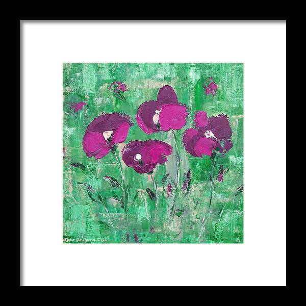 Magenta Framed Print featuring the painting Magenta Poppies by Gina De Gorna
