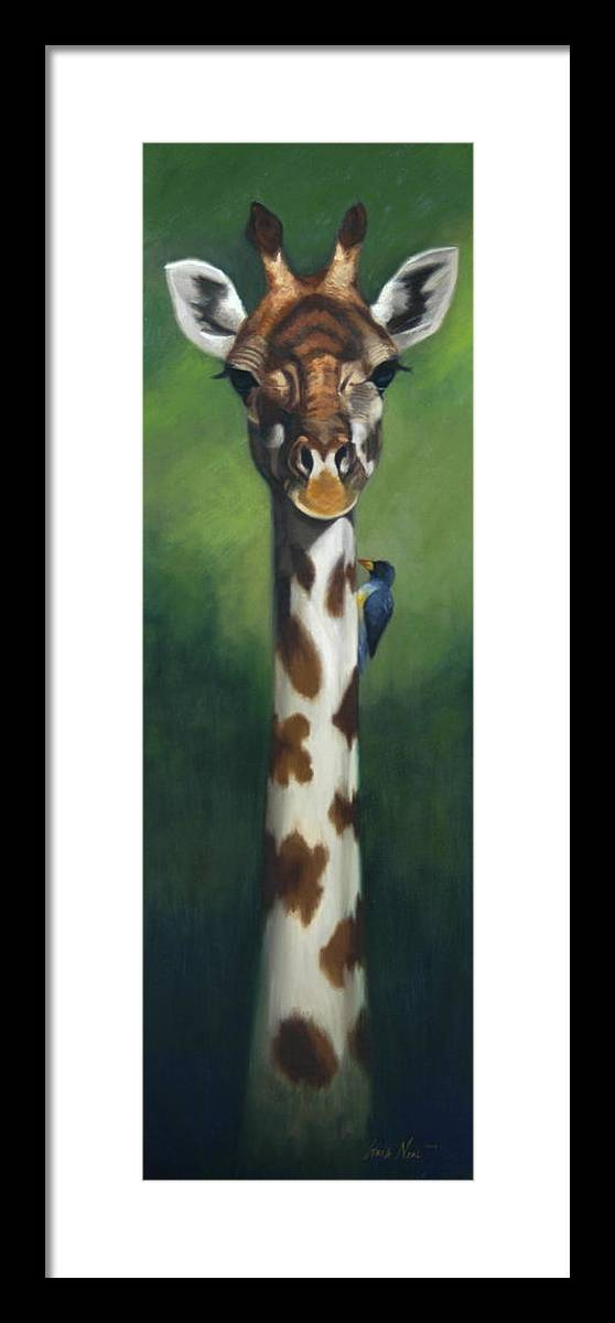 Framed Print featuring the painting Maggie by Greg Neal